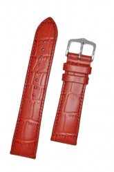 Hirsch 'LouisianaLook' M Red Leather Strap, 22mm