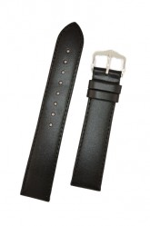 Hirsch 'Umbria ' L Black Leather Strap, 18mm