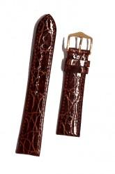 Hirsch 'Genuine Croco' M 16mm Golden Brown Leather Strap
