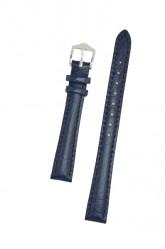 Hirsch 'Highland' M Blue, leather watch strap 12mm