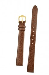 Hirsch 'Dakota' Brown, leather watch strap,L, 12mm