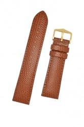 Hirsch 'Rainbow' M Golden Brown Leather Strap, 18mm
