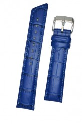Hirsch 'Princess' Royal Blue Leather Strap, L, 20mm
