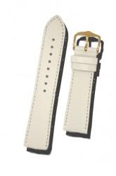Hirsch 'Umbria ' M White Leather Strap, 18mm
