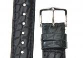 Hirsch 'Regent' Black Leather Strap, 18mm