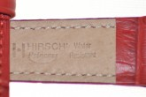 Hirsch 'Princess' red Leather Strap, 12mm