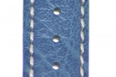 Hirsch 'Jumper' Blue Leather Strap, 20mm