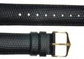 Hirsch 'Rainbow' Black Leather Strap, 12mm
