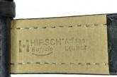 Hirsch 'Buffalo' L 22mm Black Leather Strap