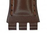 Hirsch Arizona, Watch Strap for Swatch Chronos in Brown, 19mm, Steel Buckle