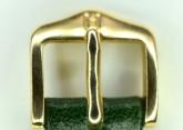 Hirsch 'Osiris' Green Leather Strap, 12mm
