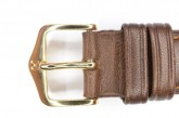 Hirsch 'Camelgrain' L 16mm Brown Leather Strap