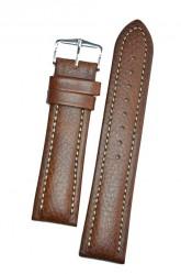 Hirsch 'Buffalo' L 22mm Brown Leather Strap