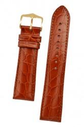 Hirsch 'Crocograin' Long Tan Leather Strap, 18mm