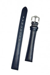 Hirsch 'Osiris' Blue Leather Strap, 14mm