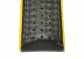 Hirsch 'Ayrton' Performance 24mm Black and Yellow Strap