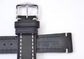Hirsch 'Liberty' 20mm Black Strap
