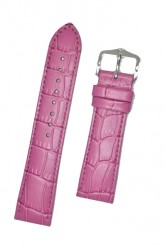 Hirsch 'LouisianaLook' M Pink Leather Strap, 20mm