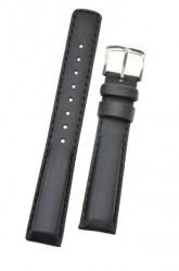 Hirsch 'Runner' 24mm Black Leather Strap
