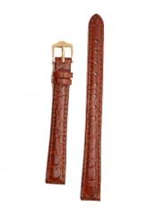 Hirsch 'Crocograin' Long Tan Leather Strap, 14mm