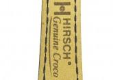 Hirsch 'Genuine Croco' M 15mm Blue Leather Strap