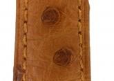 Hirsch 'Massai Ostritch'  M Golden Brown Leather Strap, 16mm
