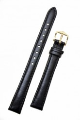 Hirsch 'Osiris' Black Leather Strap, 13mm