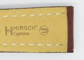 Hirsch 'Capitano' 24mm Matt Brown Alligator Leather Strap