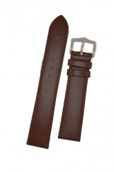 Hirsch 'Umbria ' L Brown Leather Strap, 20mm