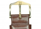 Hirsch 'Italocalf' Brown ,L,  Leather Strap, 18mm