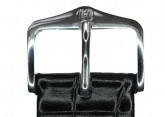 Hirsch 'LouisianaLook' M Black Leather Strap, 18mm