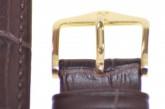 Hirsch 'Duke' Dark Brown Leather Strap, 16mm