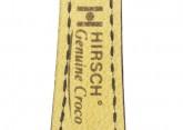 Hirsch 'Genuine Croco' M 16mm Black Leather Strap