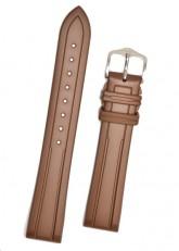Hirsch 'Hevea' 18mm Premium Brown Rubber Strap
