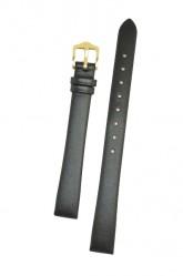 Hirsch 'Italocalf' 14mm ,L, Black Leather Strap