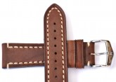 Hirsch 'Liberty' 24mm Brown Leather Strap