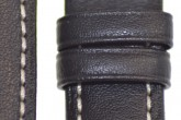 Hirsch 'Heavy Calf' 24mm Black Leather Strap