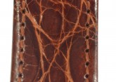 Hirsch 'Genuine Croco' 19mm Golden Brown Leather Strap