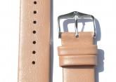 Hirsch 'Cashmere-aloe vera' peach Leather Strap, 20mm