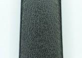 Hirsch 'Diamond calf'' Black Leather Strap,L 14mm