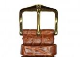 Hirsch 'Regent' M Golden Brown Leather Strap, 17mm