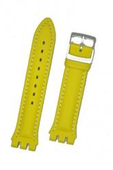 Hirsch Lionel, Watch Strap for Swatch Chronos in Yellow, 19mm, Steel Buckle