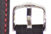 Hirsch 'Grand Duke' High Tech 18mm Black Leather Strap