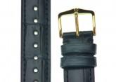 Hirsch 'London' Navy Blue Leather Strap, 20mm