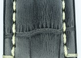 Hirsch 'Knight' XL 22mm Black Leather Strap