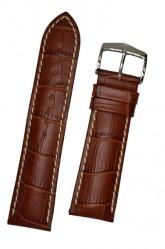 Hirsch 'Modena' Golden Brown Leather Strap, 18mm