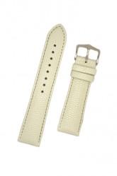 Hirsch 'Rainbow' M White Leather Strap, 20mm