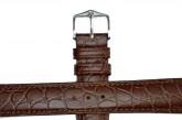 Hirsch 'Aristocrat' 22mm Brown Leather Strap
