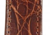 Hirsch 'Genuine Croco' M 14mm Golden Brown Leather Strap