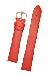 Hirsch 'Diamond calf'' Red Leather Strap,M, 20mm